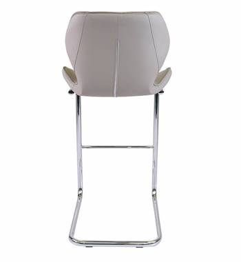 Milano Faux Leather and Chrome Breakfast Bar Chair Mink Grey