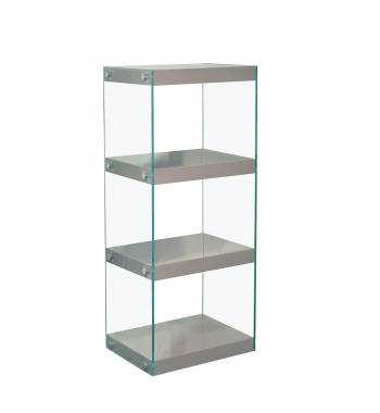 Moda Grey Gloss Glass Display Shelving Unit Medium