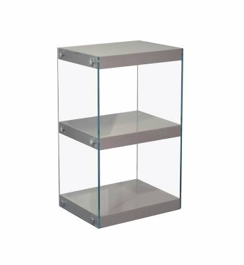 Moda Grey Gloss Glass Display Shelving Unit Small