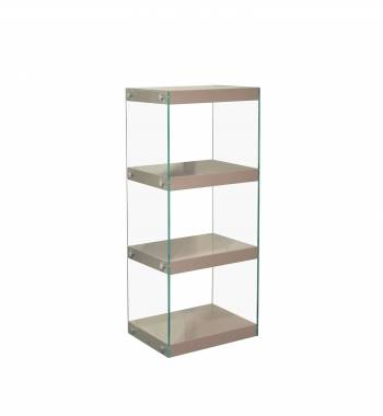 Moda Mink Grey Gloss Glass Display Shelving Unit Medium