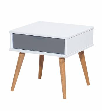 Montana Side Table Grey & White