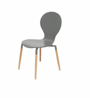 Naples Grey Beech Wooden Chair