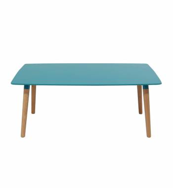 Naples Rectangle Blue Beech Wood Coffee Table