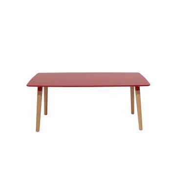 Naples Rectangle Red Beech Wooden Coffee Table