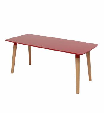 Naples Rectangle Red Beech Wood Coffee Table