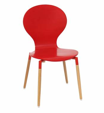 Naples Red Beech Wood Chair