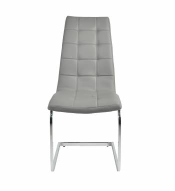 New York Faux Leather New Grey Cantilever Dining Chair