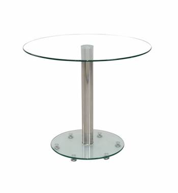 Parma Round Clear Glass Top Small Dining Table (80 cm)