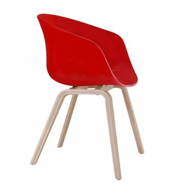 Tulip Red Dining Chair