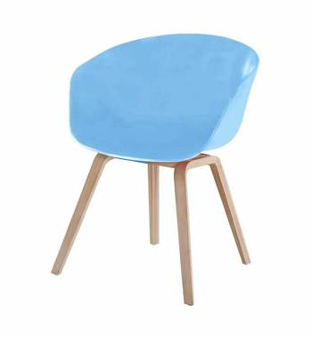 Tulip Sky Blue Dining Chair