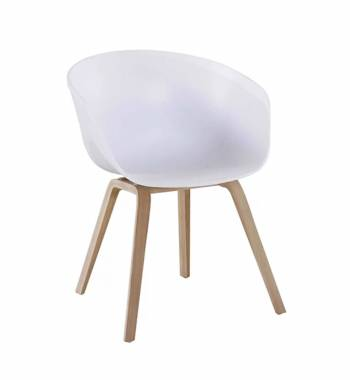 Tulip White Dining Chair