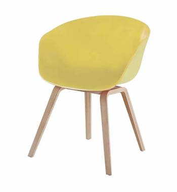 Tulip Yellow Dining Chair