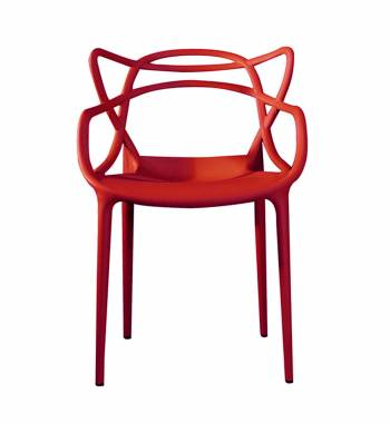 Twist Red Dining Chair