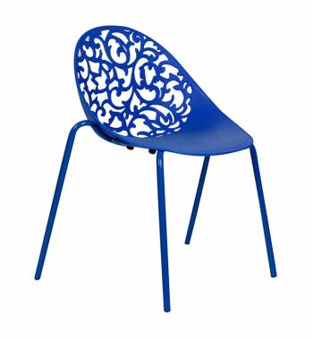Vine Blue Dining Chair With Blue Legs