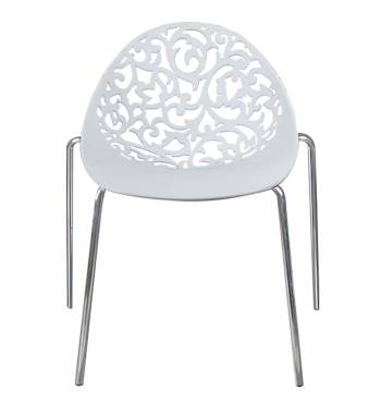 Vine White Dining Chair