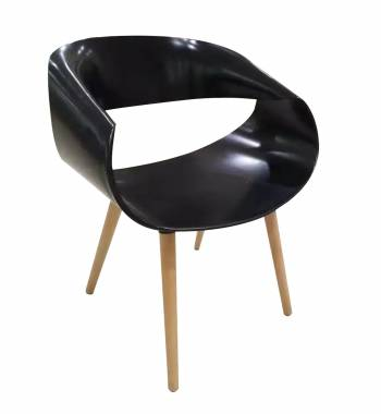 Wave Black Dining Chair