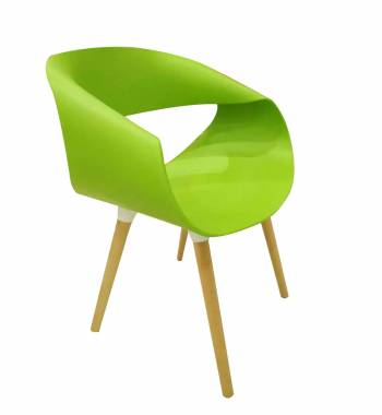 Wave Green Dining Chair