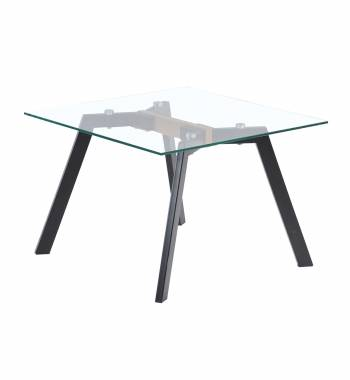 X Range Black Side Table