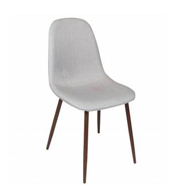 Alpine Fabric Contemporary Grey Dining Chair