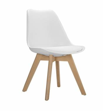 Roma Modern Dining Chair White
